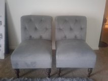 2 Grey Side Chairs In New Lenox, Illinois
