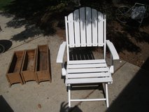 MASSIVE REDUCTION --OUTDOOR OR INDOOR ALL WOOD CHAIR in Tinley Park, Illinois