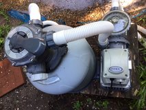 Intex pool sand filter and pool stairs in The Woodlands, Texas