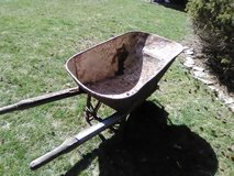 rusted wheel barrel for garden decoration or restore. in Tinley Park, Illinois
