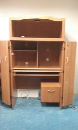 ENCLOSED OFFICE DESK WITH FILE CABINET AND LIGHT in Joliet, Illinois