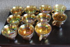 Carnival Glass cups - Marigold in Yucca Valley, California