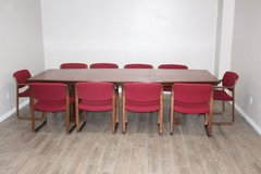 Conference Table, Solid Wood /10 Chairs Now Available in Kingwood, Texas
