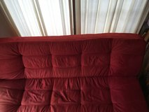 Dark Red Sleeper Couch in Okinawa, Japan