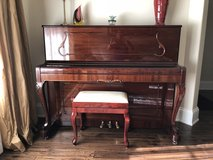 Petrof Upright Piano 115 IC Chippendale in Mahogany - Perfect Condition in Glendale Heights, Illinois