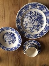 Windmill pattern dishes by Royal China in Naperville, Illinois