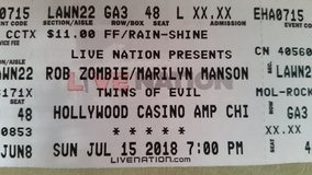 UPDATE -2 LEFT - 4 tickets to Marilyn Manson & Rob Zombie 7/15 @ Hollywood Casino Amphitheater in Plainfield, Illinois