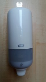 Soap dispenser white with key-Good condition! in Spangdahlem, Germany