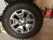 BF Goodrich LT 255R 17 Stock tire and rim for JK Wrangler in League City, Texas
