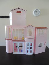 "Large ""Barbie 12"" Dollhouse w/winding staircase/furniture/built-in appliances in Oswego, Illinois"