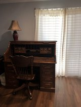 Solid oak desk and chair in Fairfield, California