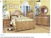 8 piece King bedroom set Tommy Bahama style Key West set from Cindy Crawford in Oswego, Illinois