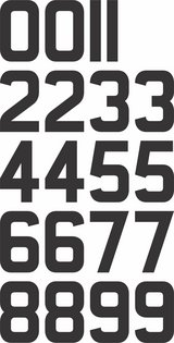 Sheet of 2 Inch (Black) Vinyl Custom Street Address Mailbox Number Decal Stickers Kit in Yucca Valley, California