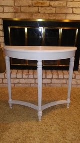 Shabby Distressed Light Gray Half Table in Cleveland, Texas