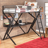 Loft Bed with desk and ladder.  **Mattress not included *I can deliver in Okinawa, Japan