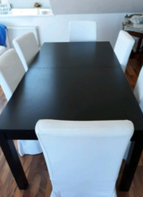 Reduced! Ikea Dining table and six chairs in Spangdahlem, Germany