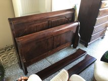 Cherry sleigh bed queen, smoke free, very good condition in Aurora, Illinois