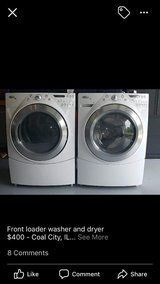 Whirlpool front loader washer and dryer in Oswego, Illinois