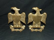Vintage Brass Eagle Bookends / Wall Decor in St. Charles, Illinois