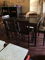 Pub Table W/ Built In Leaf and 6 Chairs in Leesville, Louisiana