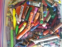 Bag of broken crayons in St. Charles, Illinois