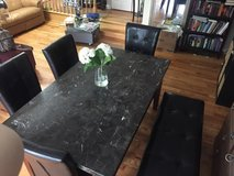 dinning table with 4 chairs and bench in Bolingbrook, Illinois