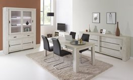 """United Furniture -  """"Gabriel"""" - China - Table 160 - 4 Chairs (black or white) - includes delivery in Spangdahlem, Germany"""