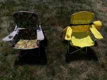 Two kids camp chairs in St. Charles, Illinois