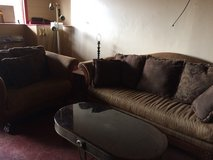 Nice Matching Couch and Oversized Chair in Leesville, Louisiana