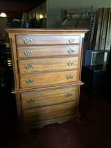 Solid Wood Tall Chest Of Drawer Dresser in Leesville, Louisiana