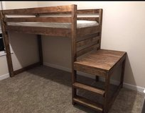 Twin sized loft bed with mattress in Okinawa, Japan