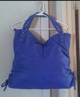 Extra Large Dark Royal Blue Simulated Leather Shoulder/Handbag in Fort Bragg, North Carolina