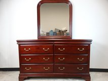Traditional Dresser with Bevelled Mirror in League City, Texas