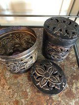 Brass candle tin set in Chicago, Illinois