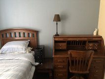 Solid wood twin bed frame and desk in Camp Pendleton, California