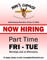 MAINTENANCE AT CAR WASH / PART TIME in El Paso, Texas