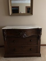 dresser w/marble top in Wilmington, North Carolina