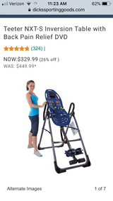 Teeter NXT-S Inversion Table with Back Pain Relief DVD in Houston, Texas
