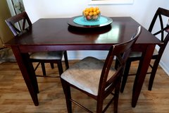 Solid Espresso Wood Dinner Table in Camp Lejeune, North Carolina