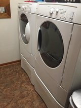 Electric Washer and Dryer with Storage Bins in St. Charles, Illinois