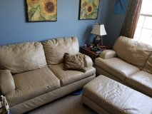 Couch set 3 leather pieces in Oswego, Illinois
