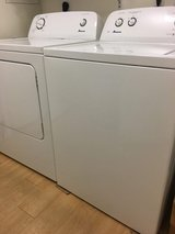 washer and dryer bought 2 yrs ago(available july 23–27 in Fort Irwin, California