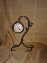 Wrought Iron Designer Table clock. in Las Vegas, Nevada