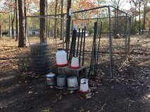 10 x 10 dog run, fence, and chicken feeder in Perry, Georgia