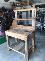 Rustic potting station in Warner Robins, Georgia