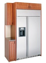 REDUCED GE SIDE BY-SIDE BUILT-IN REFRIGERATOR in Houston, Texas