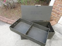 Vintage US Military Plywood Trunk Locker With Tray in Perry, Georgia