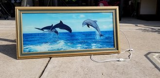 Dolphin Light Up w/ Ocean sounds Picture Frame in Fort Bragg, North Carolina