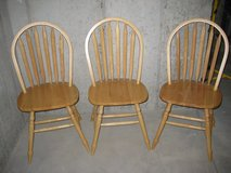 Wooden Kitchen Chairs / Dining Chairs (Set of 3) in Aurora, Illinois