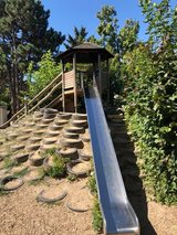 Playground with Slide with Gazebo and Gang Plang with Chain Rope All in Pic in Ramstein, Germany